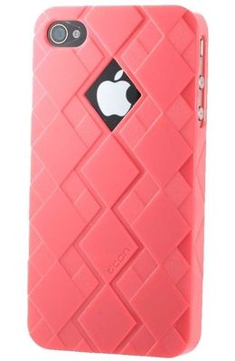CNN iphone 4 / 4s Superstrong Polycarbonate Back Cover (G032 - 02) With Value Bundle Package (Pink)