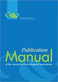 Publication Manual Of The American Psychological Association (Publication Manual  Of The American Psychological Association)
