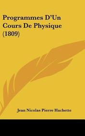 Programmes D'Un Cours de Physique (1809)