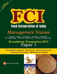 FCI (Food Corporation of India) Management Trainee Recruitment Exam 2013 Paper- 1